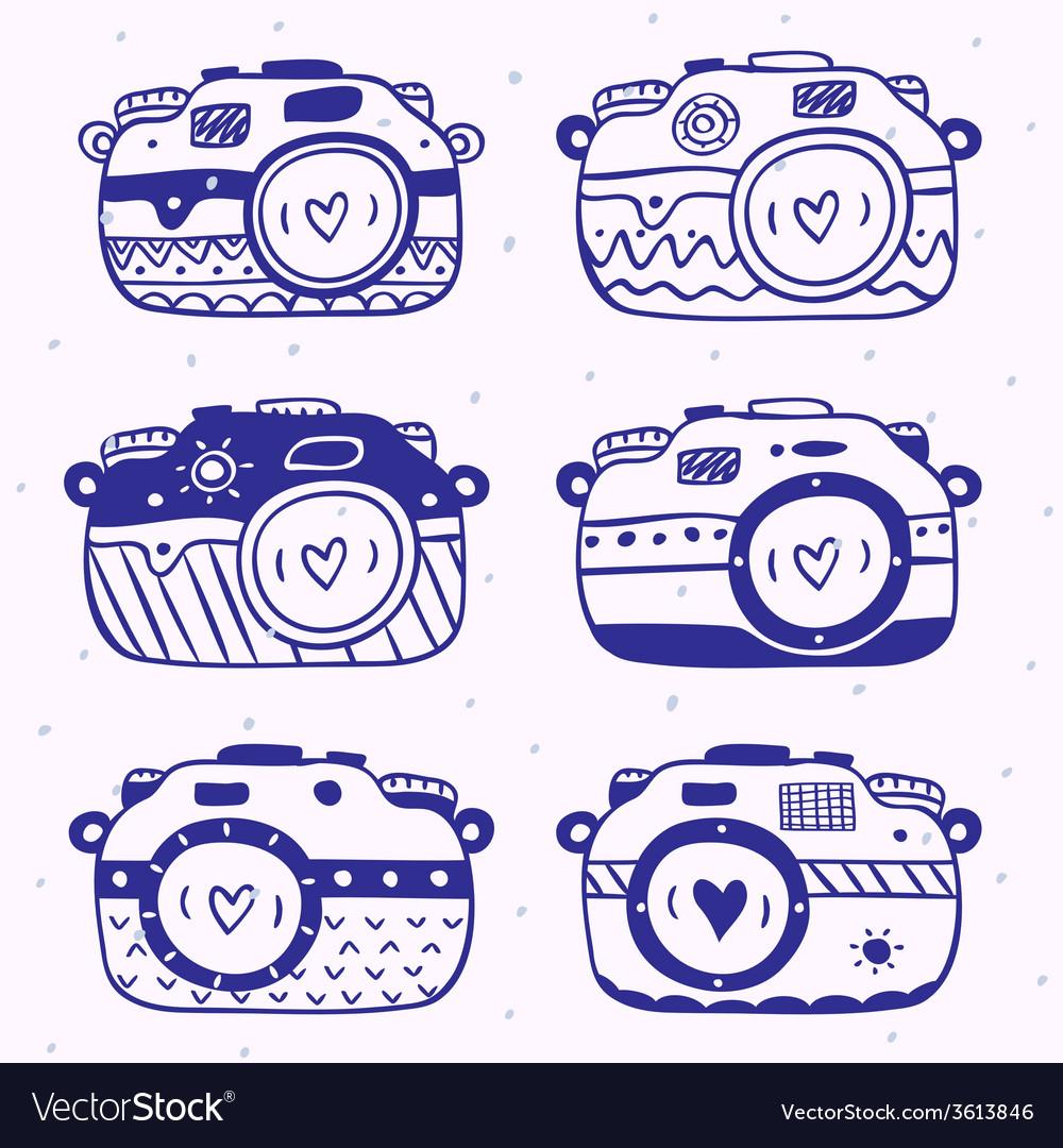 Camera set vector | Price: 1 Credit (USD $1)