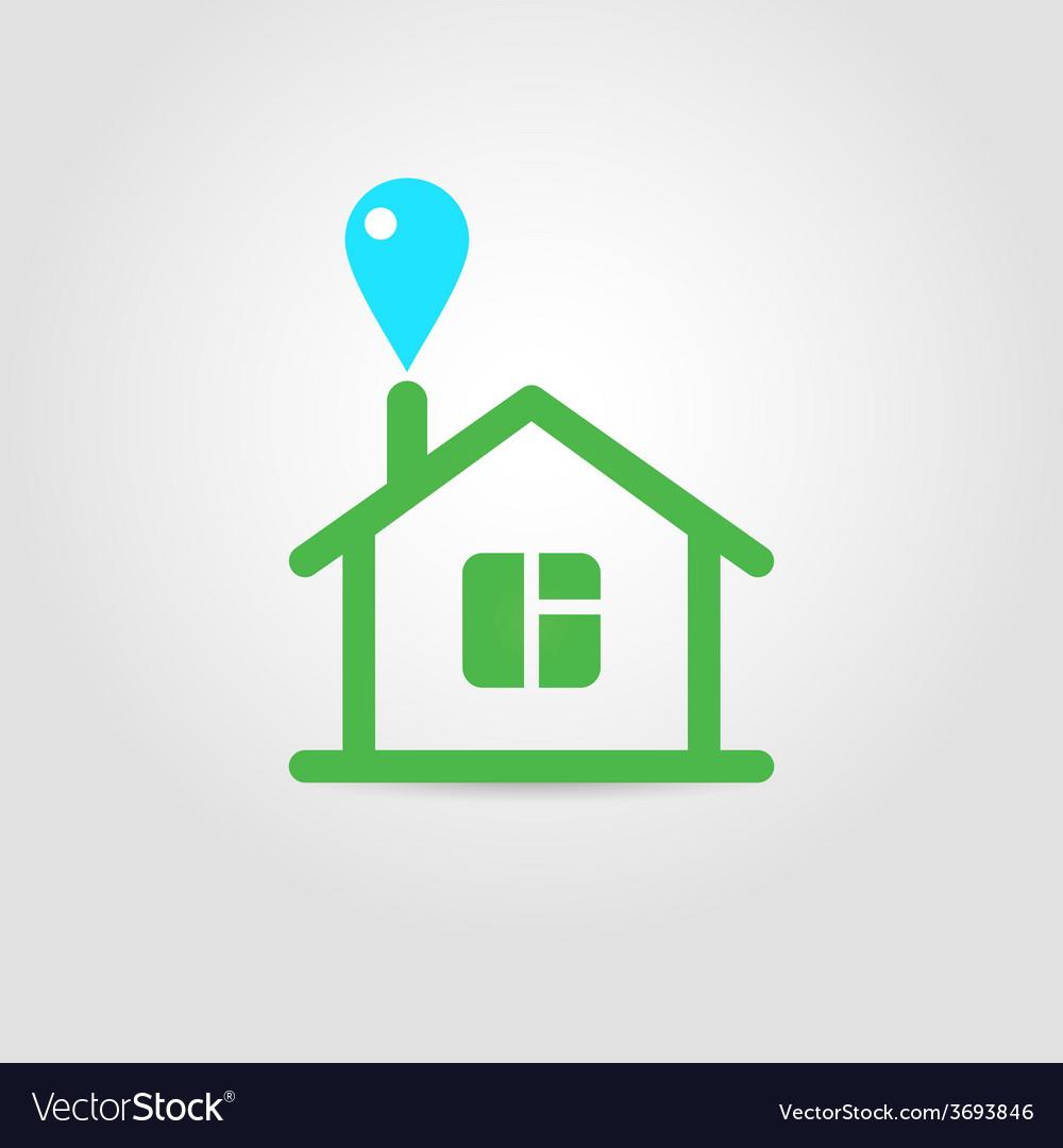 Eco house icon 02 vector | Price: 1 Credit (USD $1)
