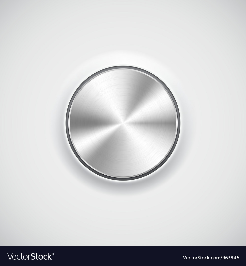 Modern volume knob button vector | Price: 1 Credit (USD $1)