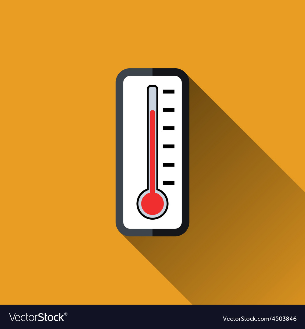 Thermometer flat icon vector | Price: 1 Credit (USD $1)