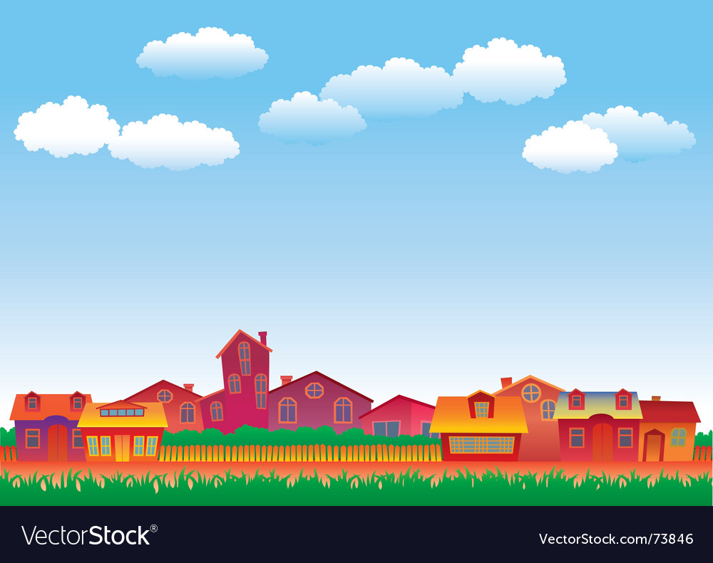 Multicolor houses vector | Price: 1 Credit (USD $1)