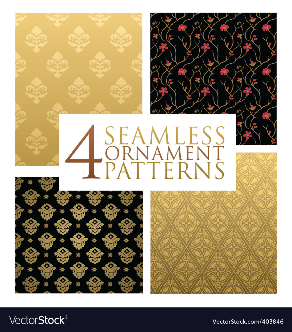 Ornament patterns vector | Price: 1 Credit (USD $1)