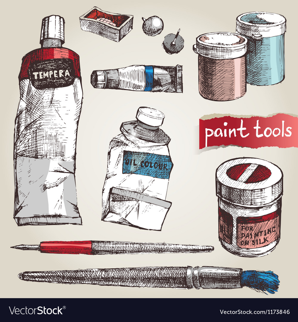 Paint tools vector | Price: 3 Credit (USD $3)