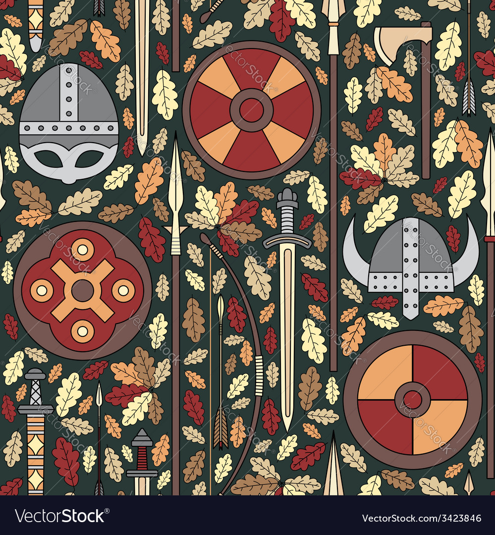 Seamless viking pattern 05 vector | Price: 1 Credit (USD $1)