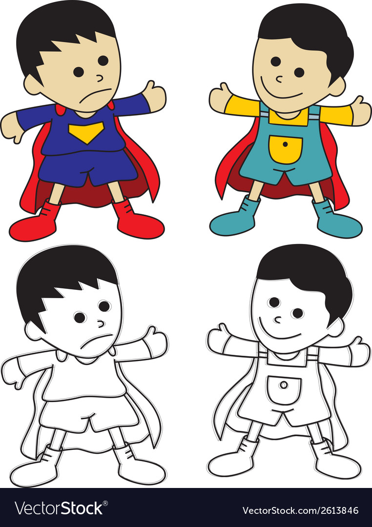 Set of small children vector | Price: 1 Credit (USD $1)
