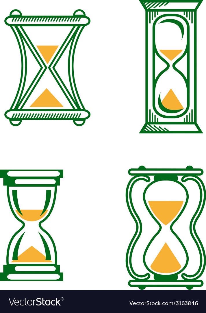 Set of vintage hourglass vector | Price: 1 Credit (USD $1)