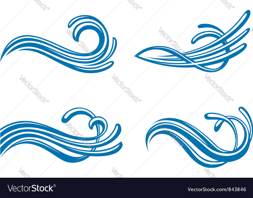 Water design elements vector | Price: 1 Credit (USD $1)