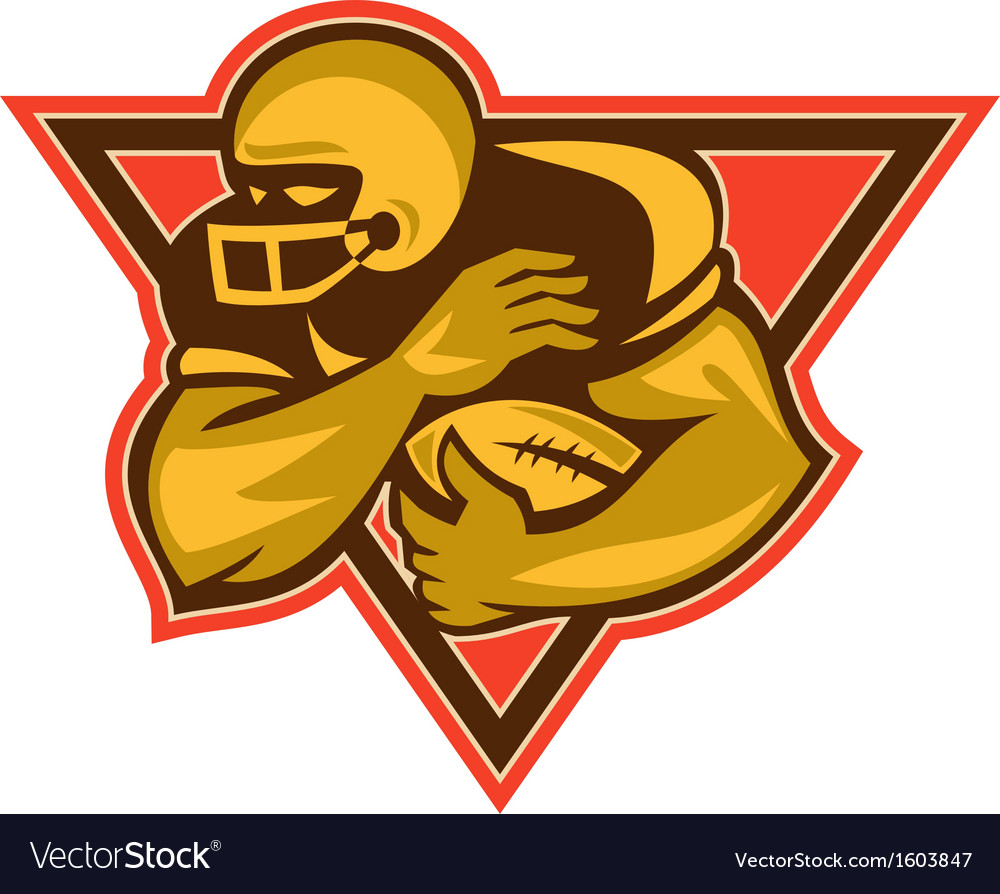American football running back ball vector | Price: 1 Credit (USD $1)