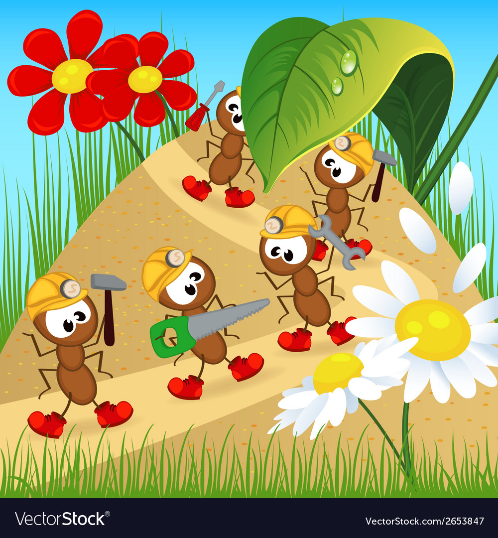 Ant builder with tool vector | Price: 1 Credit (USD $1)