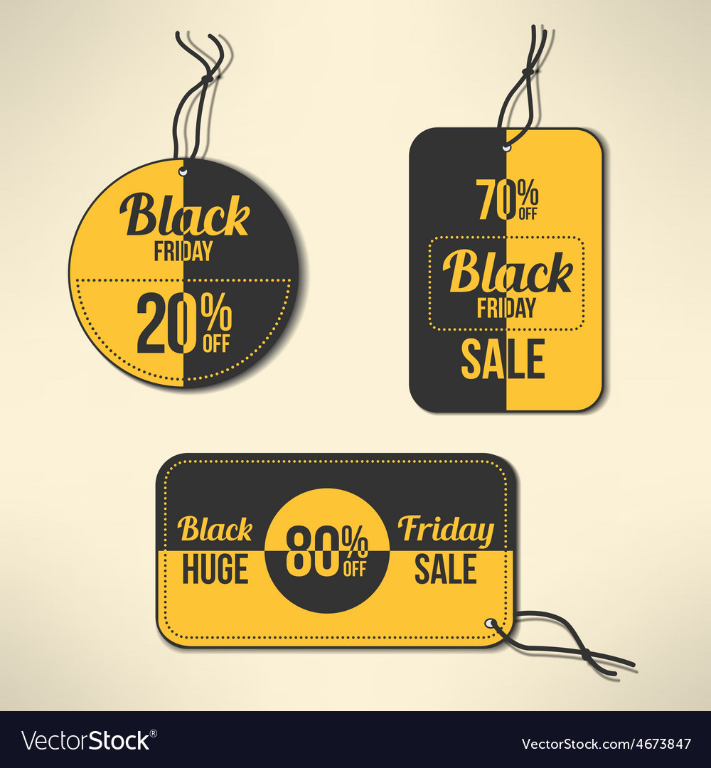 Black friday discount labels set vector | Price: 1 Credit (USD $1)