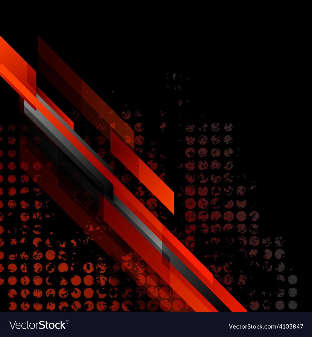 Dark red grunge tech background vector