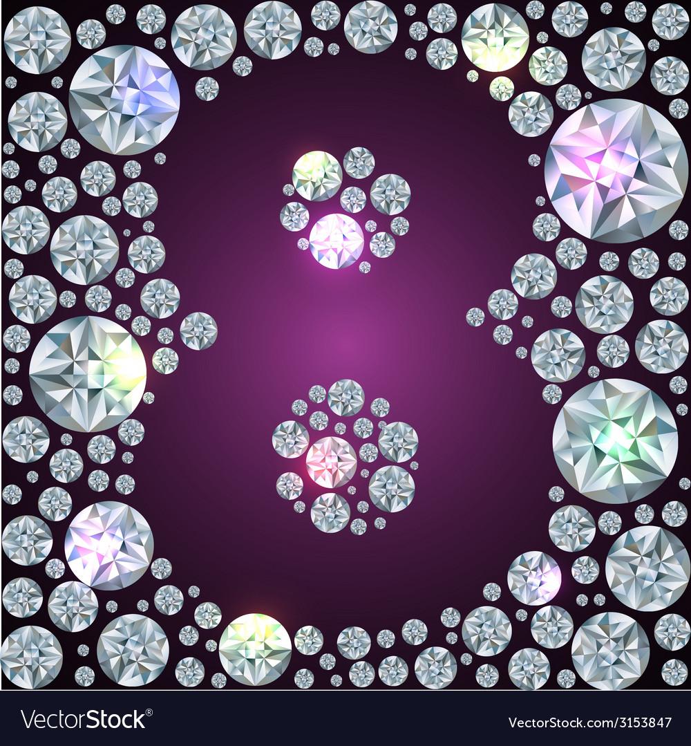 Diamond number eight vector   Price: 1 Credit (USD $1)