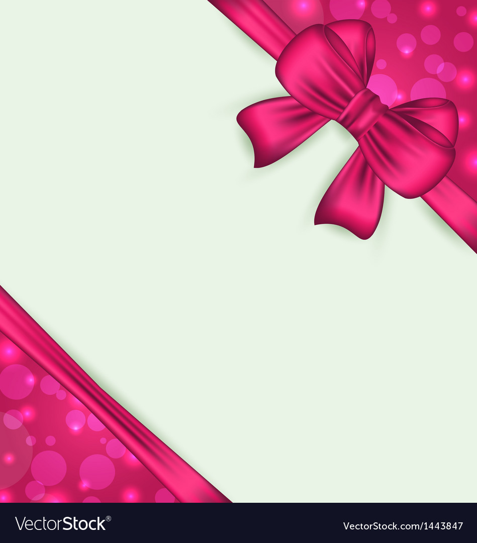 Elegant bow for present gift vector | Price: 1 Credit (USD $1)