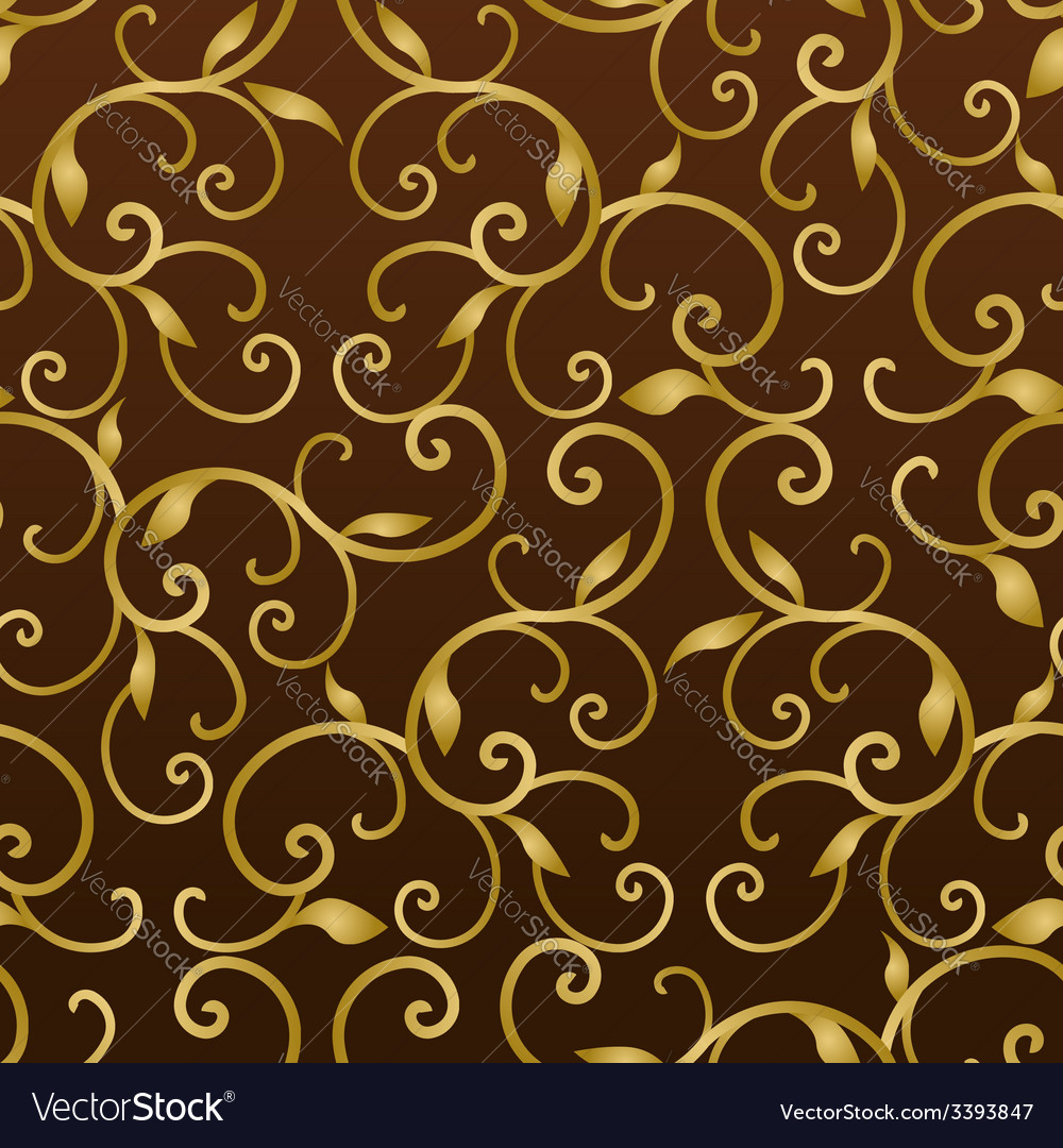 Gold vintage seamless pattern vector | Price: 1 Credit (USD $1)