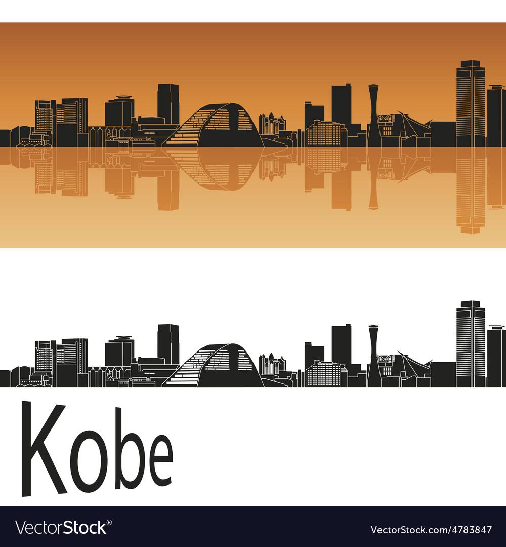 Kobe skyline in orange vector   Price: 1 Credit (USD $1)