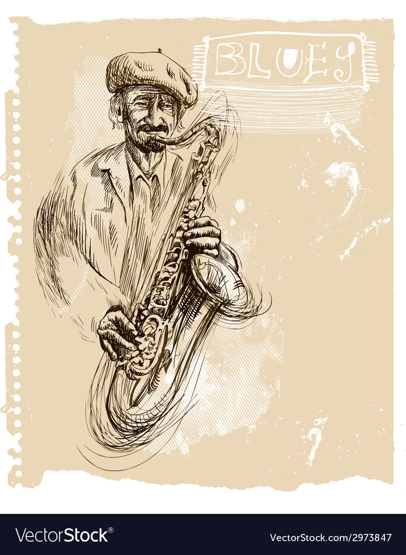 Music placard with an musician vector | Price: 1 Credit (USD $1)