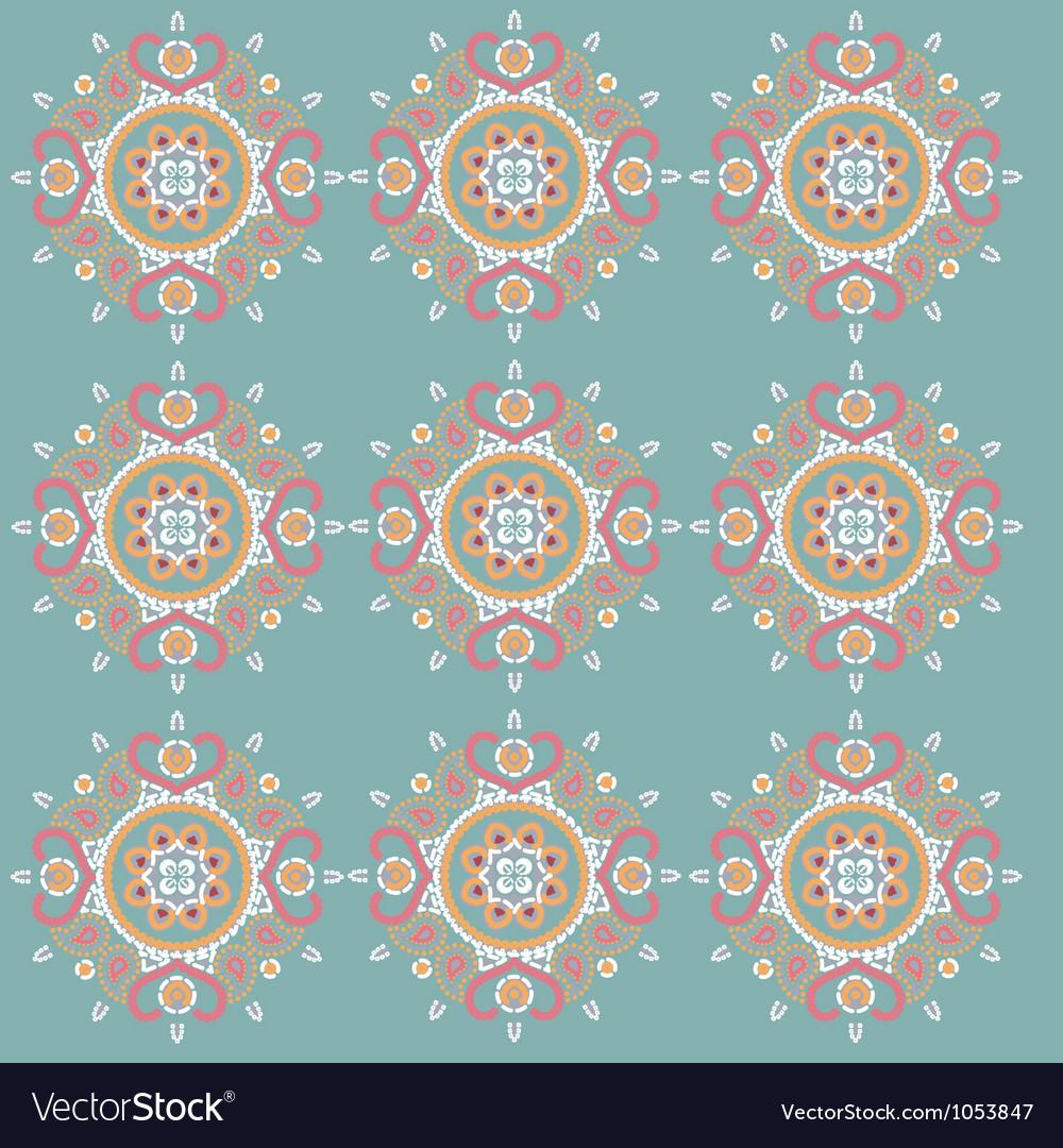 Ornament pattern retro style vector | Price: 1 Credit (USD $1)