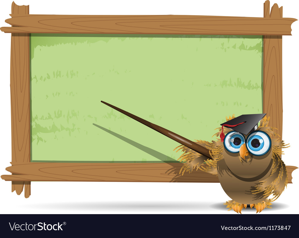Owl teacher vector | Price: 3 Credit (USD $3)