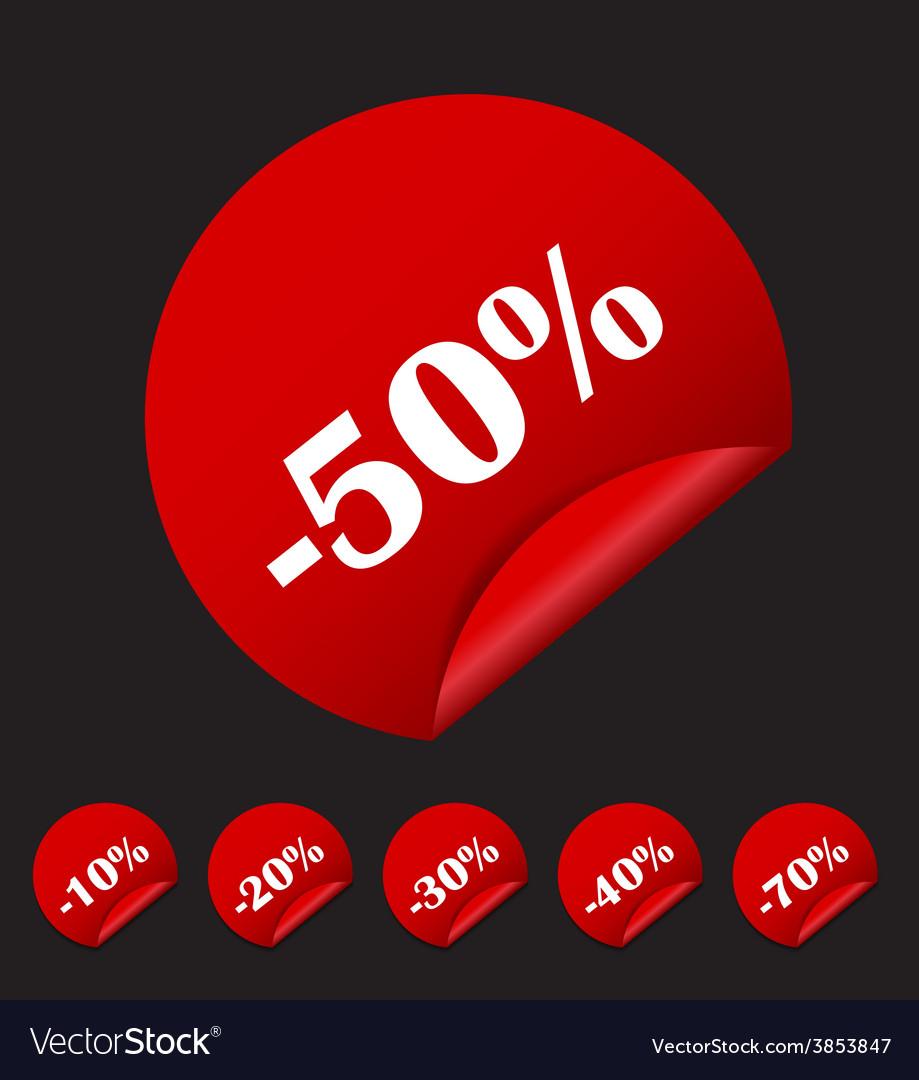 Sale sticker banner template set vector   Price: 1 Credit (USD $1)