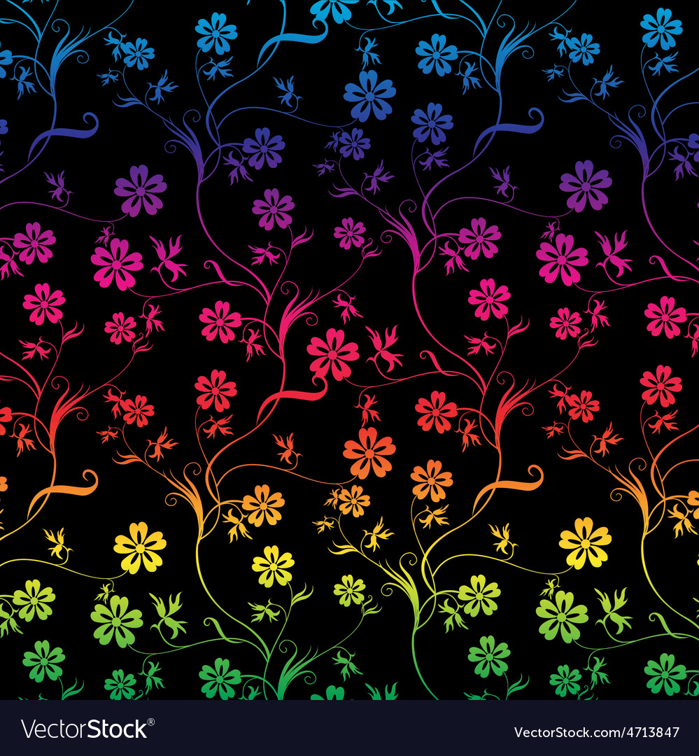 Seamless colorful floral vector | Price: 1 Credit (USD $1)
