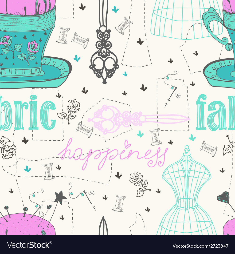 Vintage color seamless pattern - fashion and vector | Price: 1 Credit (USD $1)