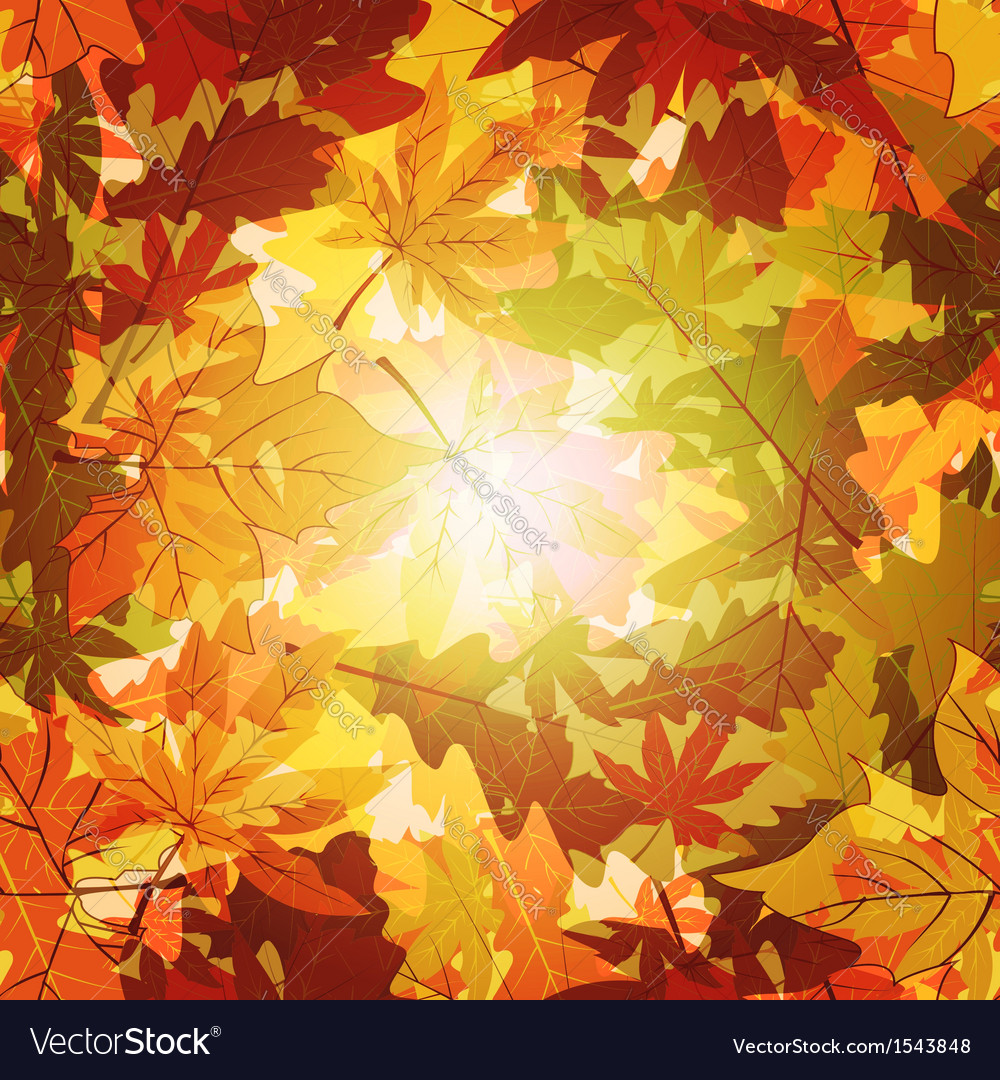 Abstract autumn leaf seamless background vector | Price: 1 Credit (USD $1)