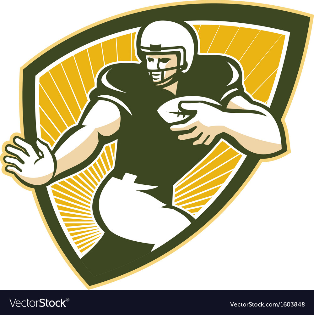 American football running back shield vector | Price: 1 Credit (USD $1)