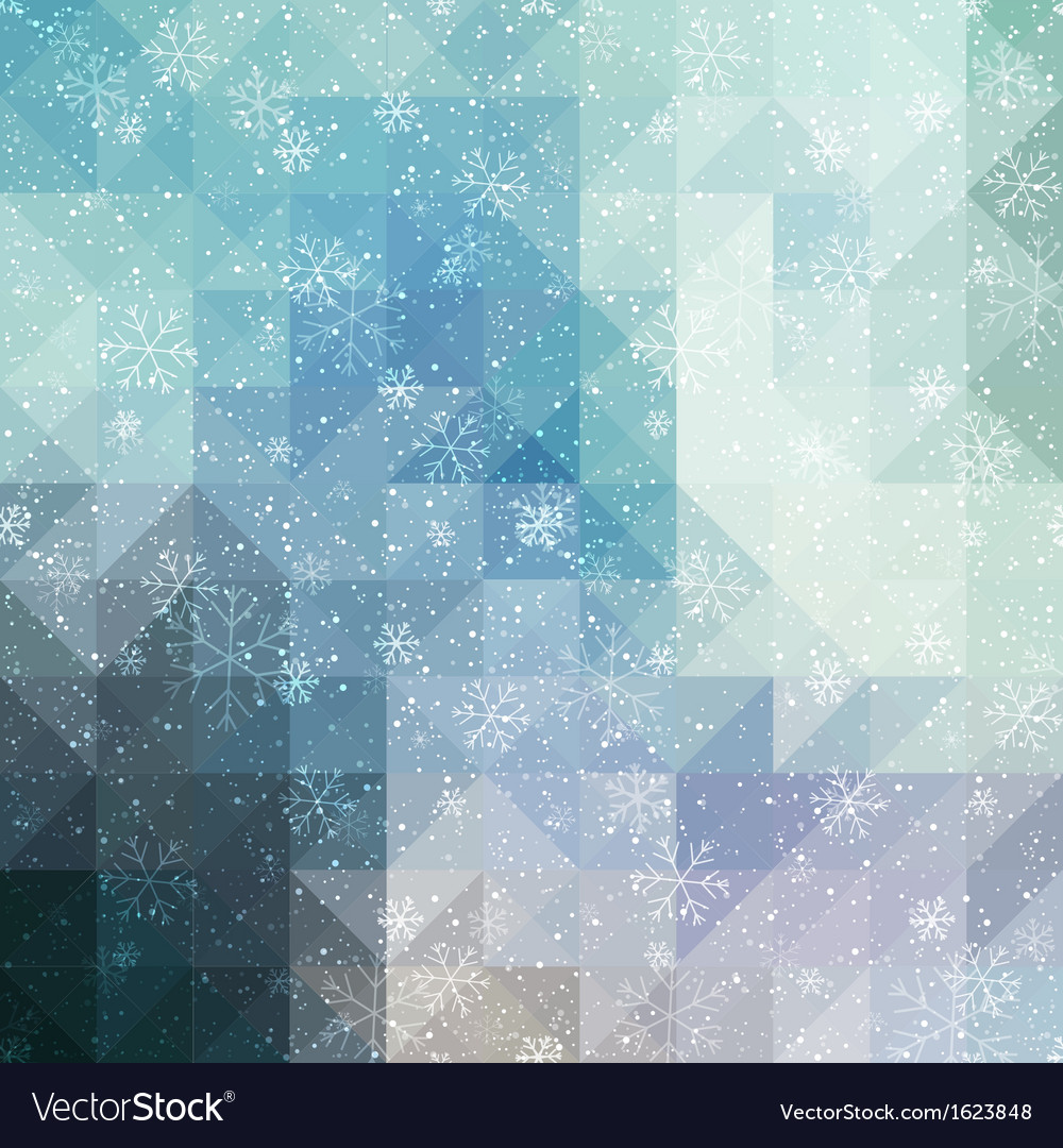 Blue winter background with triangle texture vector | Price: 1 Credit (USD $1)