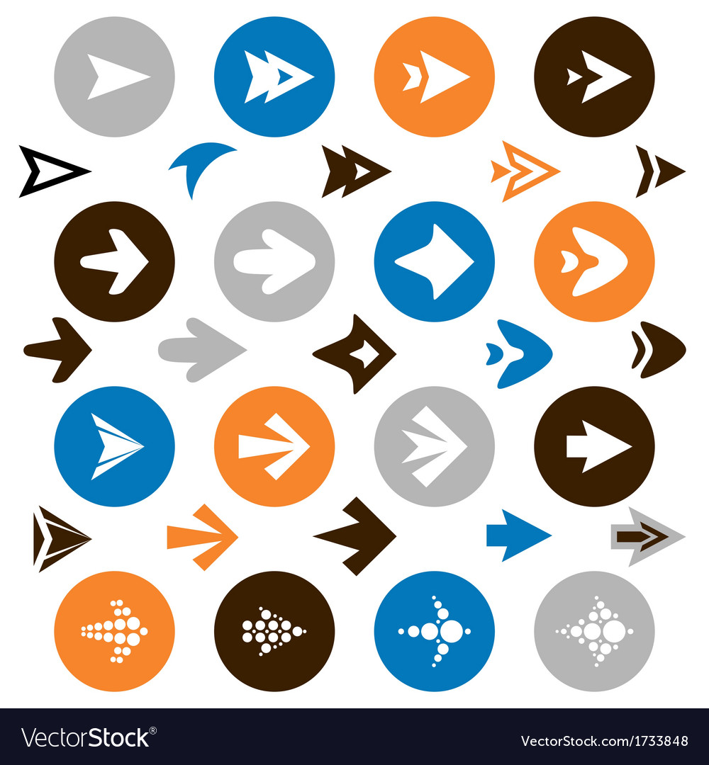 Collection of arrow icons vector