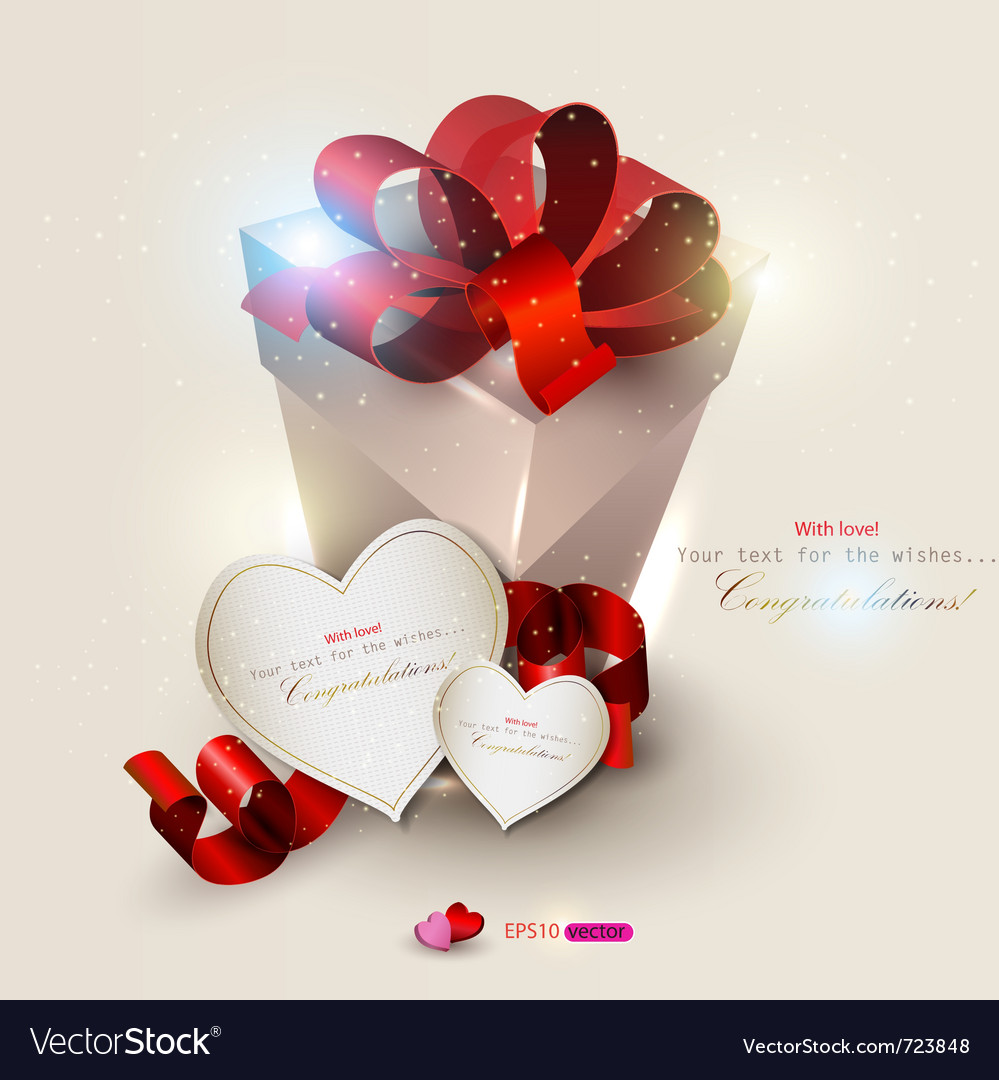Elegant background with gift and gift cards vector | Price: 1 Credit (USD $1)