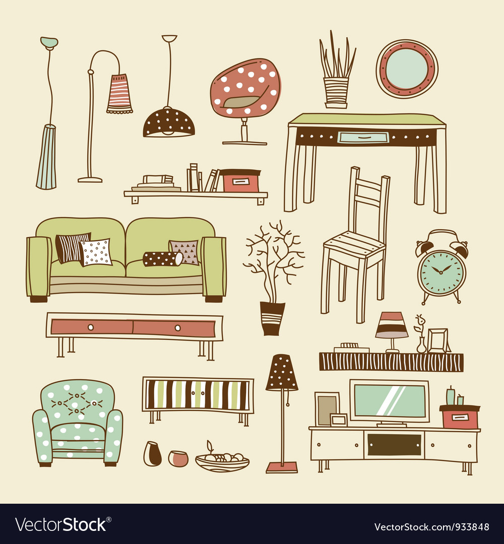 Living room vector | Price: 1 Credit (USD $1)