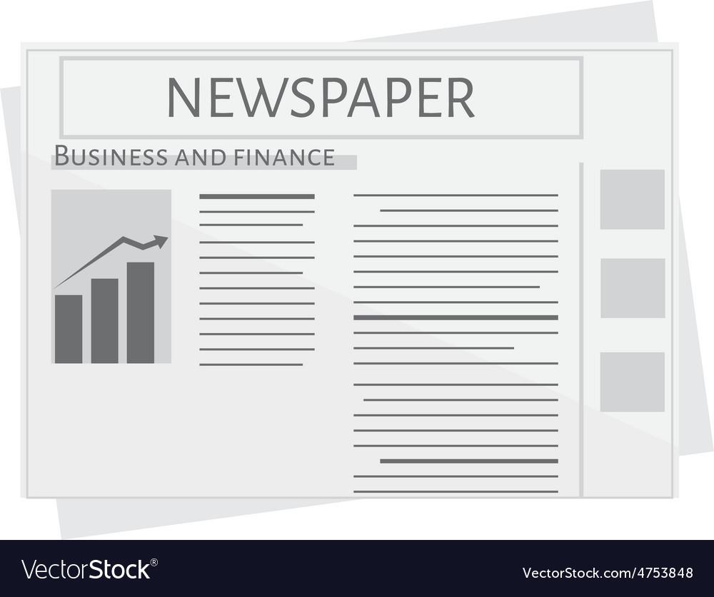 Newspaper vector | Price: 1 Credit (USD $1)