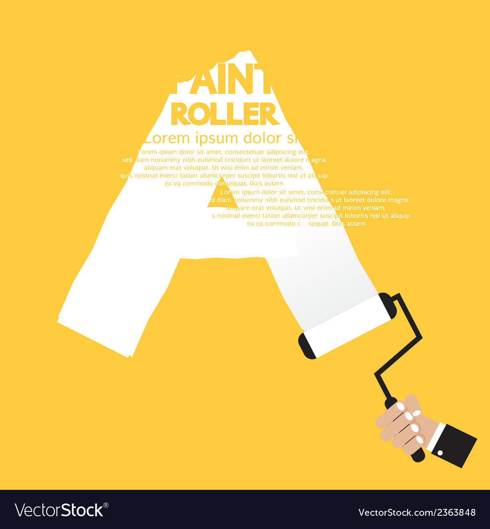 Paint roller alphabet a vector | Price: 1 Credit (USD $1)