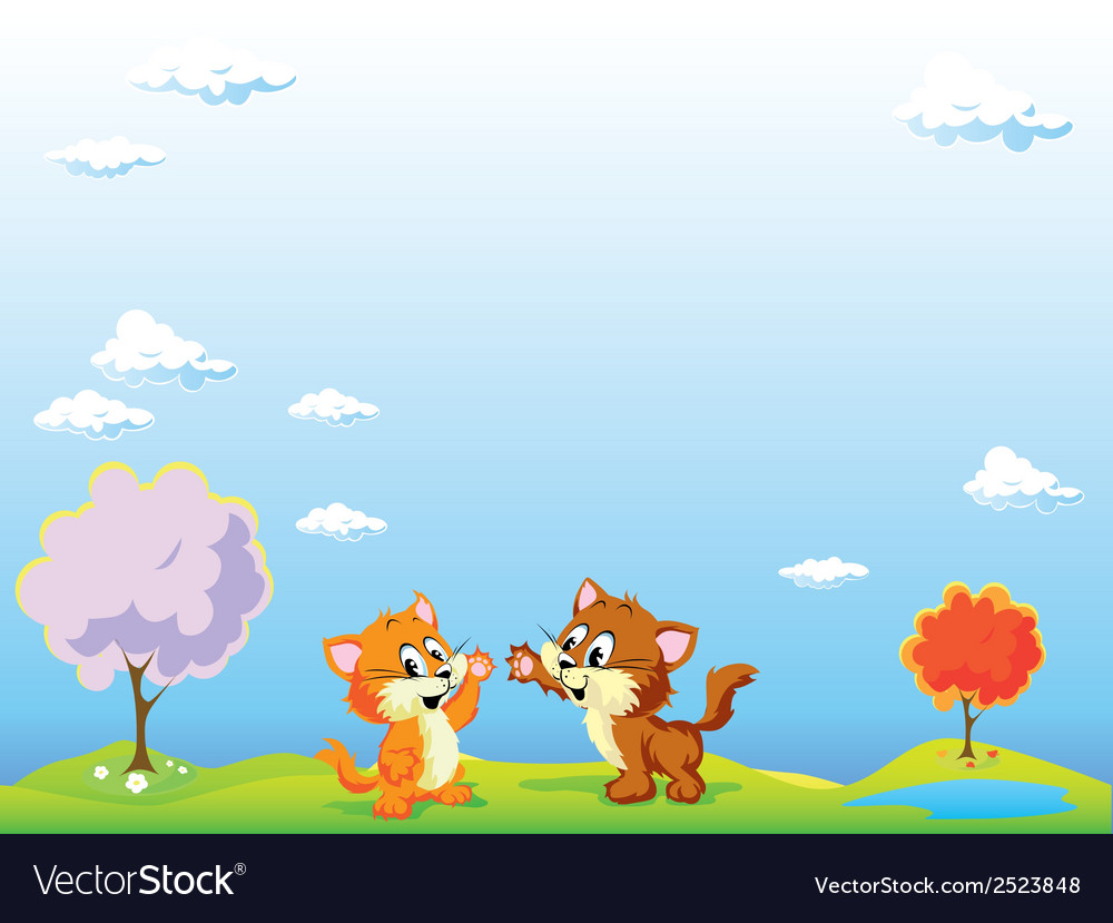 Playing cats vector | Price: 1 Credit (USD $1)