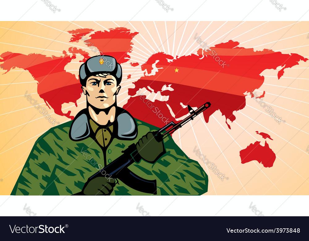 Russian soldier cartoon vector | Price: 3 Credit (USD $3)