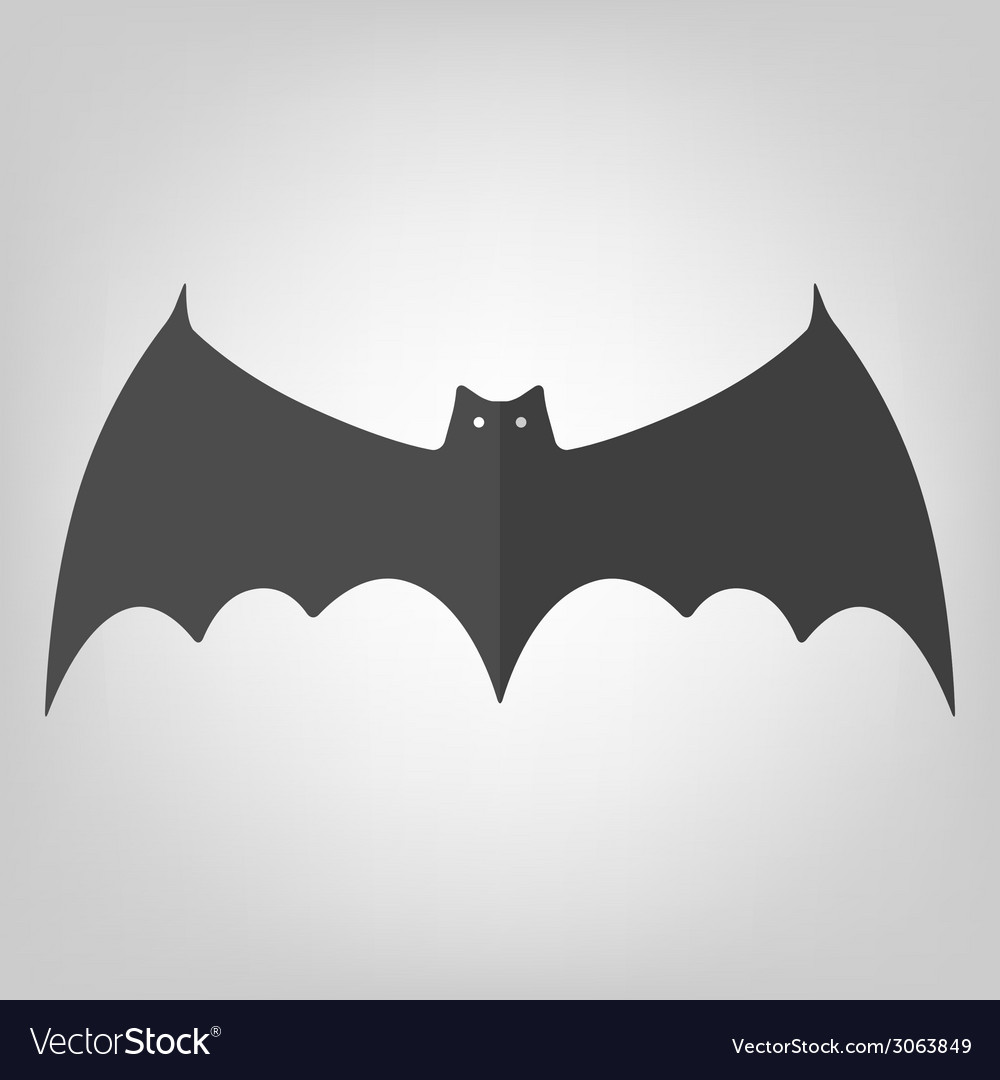 Bat icon for halloween vector | Price: 1 Credit (USD $1)