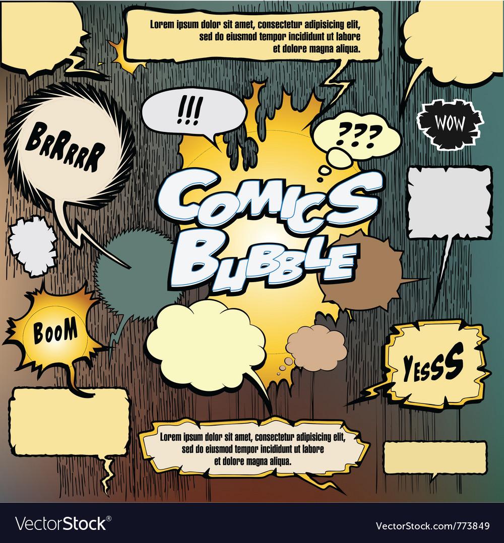Comics bubble set vector | Price: 3 Credit (USD $3)