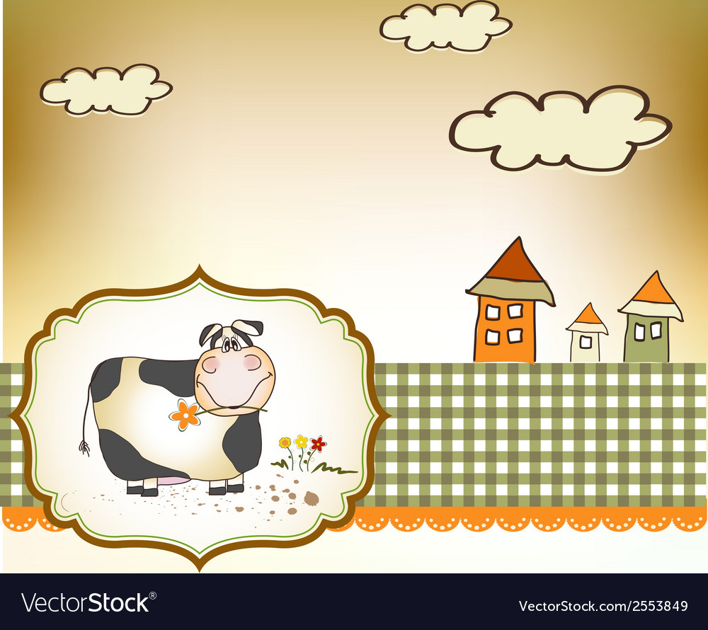 Cute happy cow vector | Price: 1 Credit (USD $1)