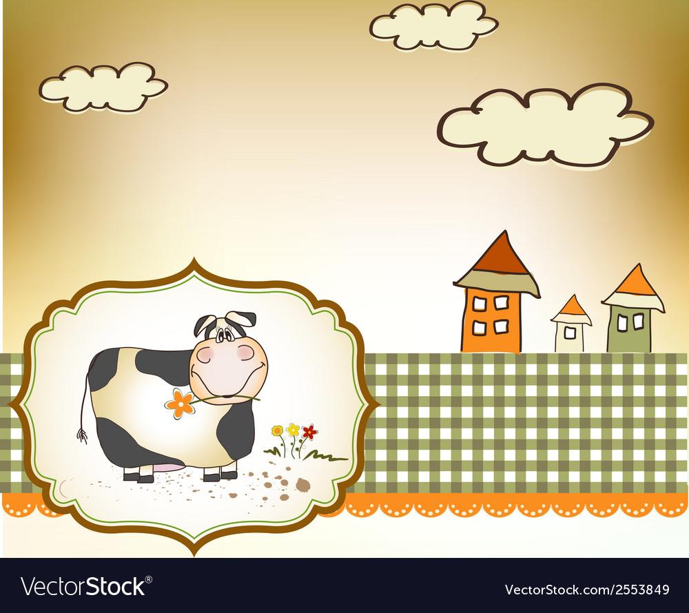 Cute happy cow vector   Price: 1 Credit (USD $1)