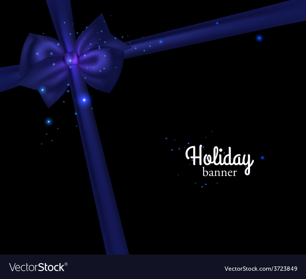 Elegant holiday banner with photorealistic blue vector | Price: 1 Credit (USD $1)