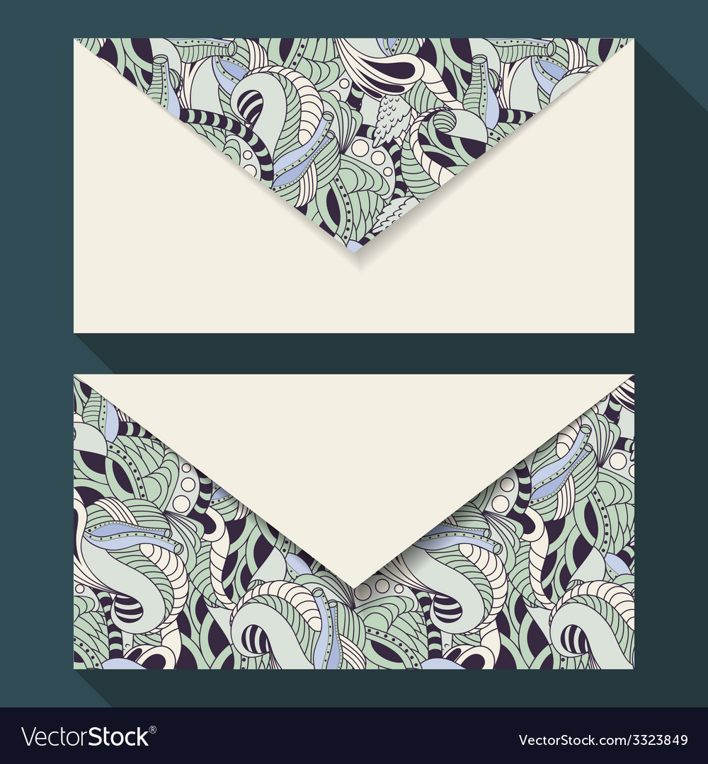Hand drawn floral business card set vector | Price: 1 Credit (USD $1)