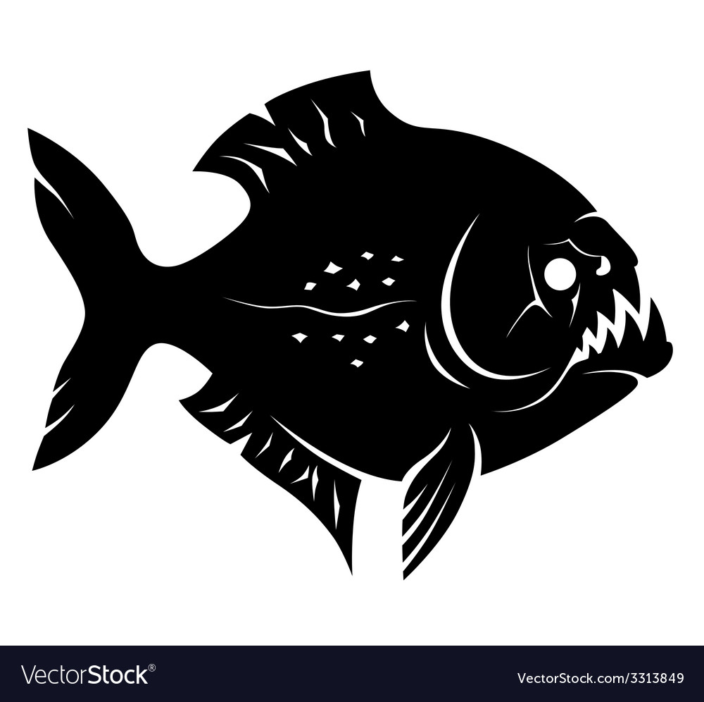 Piranha sign vector | Price: 1 Credit (USD $1)