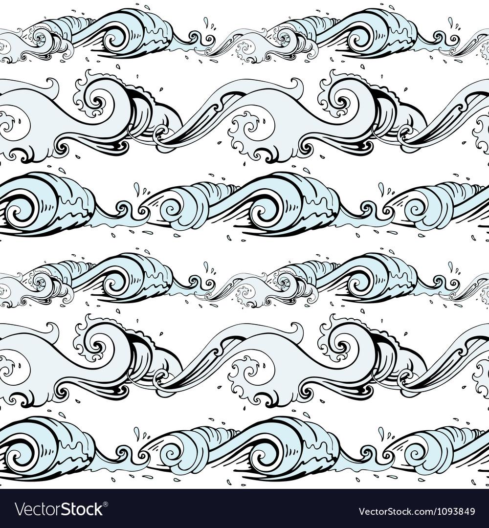 Sea background hand drawn vector | Price: 1 Credit (USD $1)