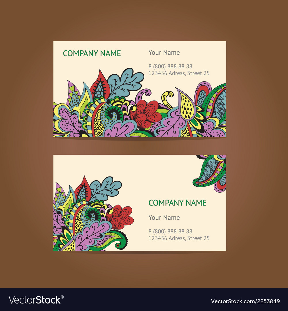 Set of 2 business cards vector | Price: 1 Credit (USD $1)