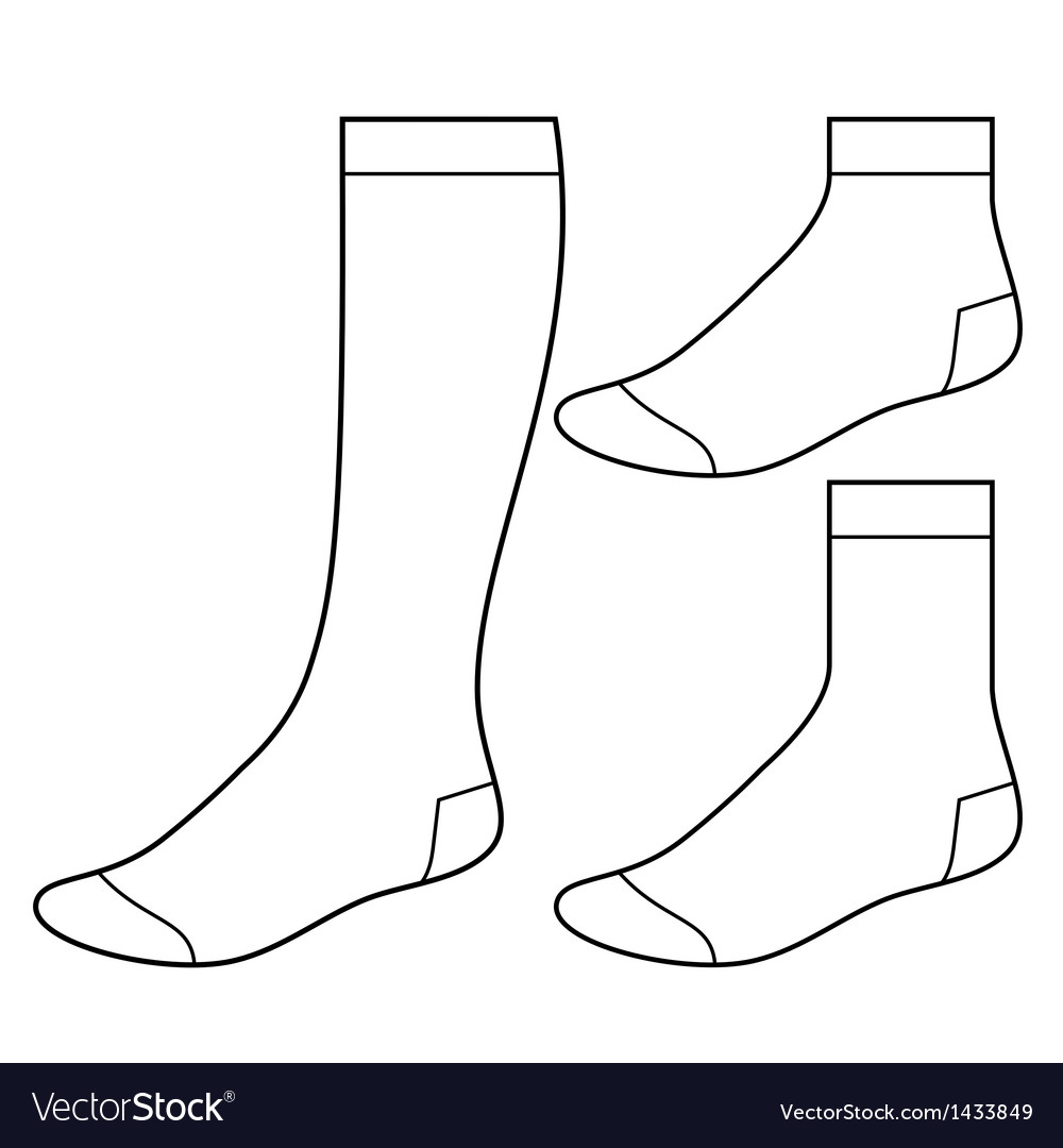 Set of blank socks vector | Price: 1 Credit (USD $1)