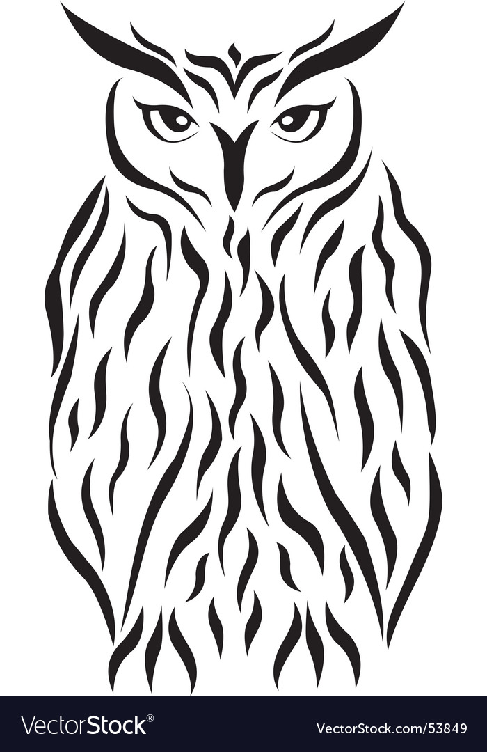 Tribal eagle-owl tattoo vector | Price: 1 Credit (USD $1)