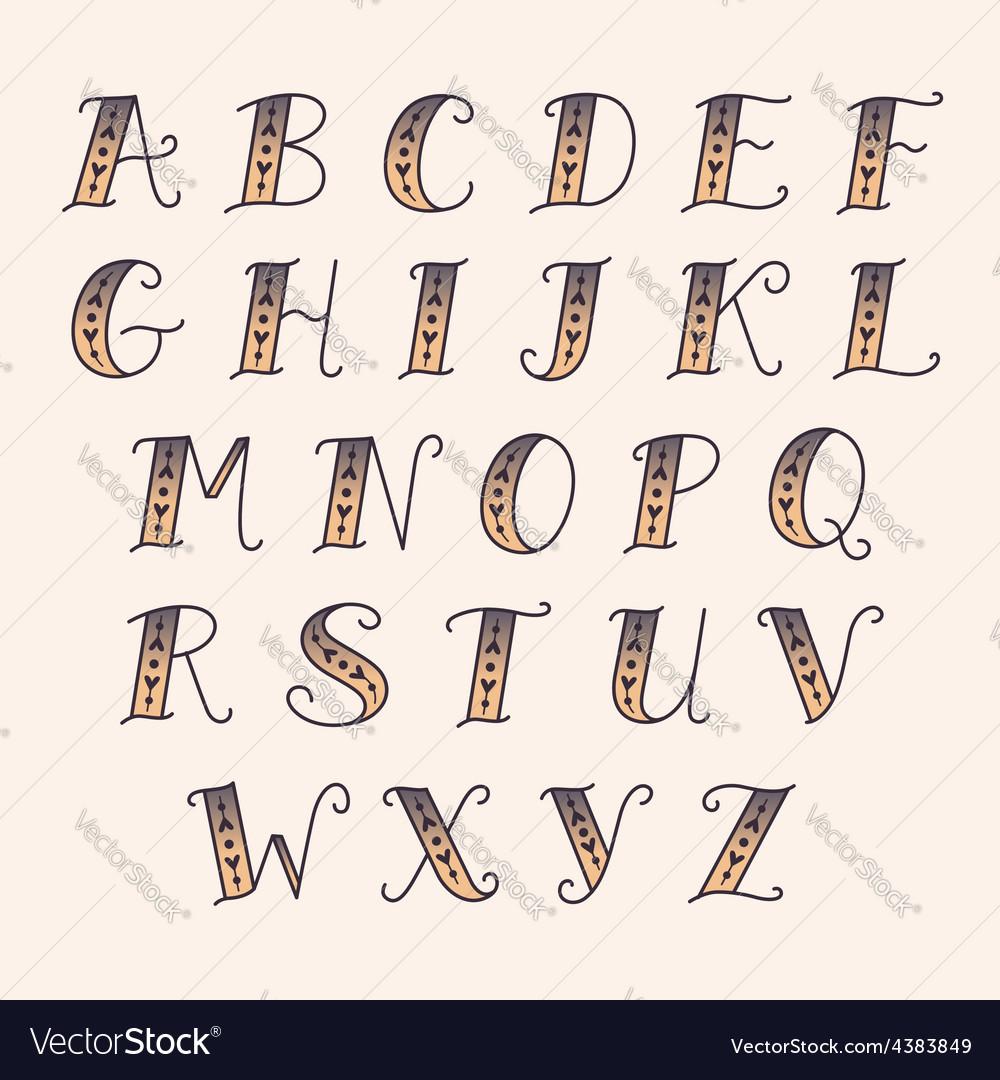 Vintage alphabet vector | Price: 1 Credit (USD $1)