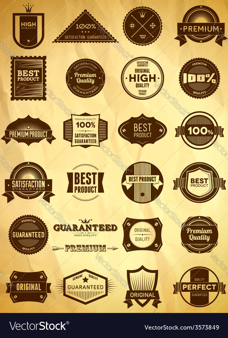 Vintage labels big collection 3 vector | Price: 1 Credit (USD $1)