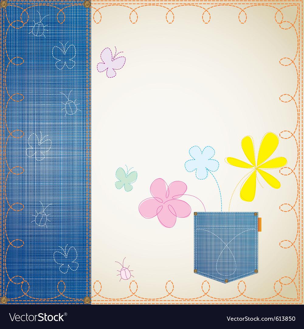Blue jeans frame vector | Price: 1 Credit (USD $1)
