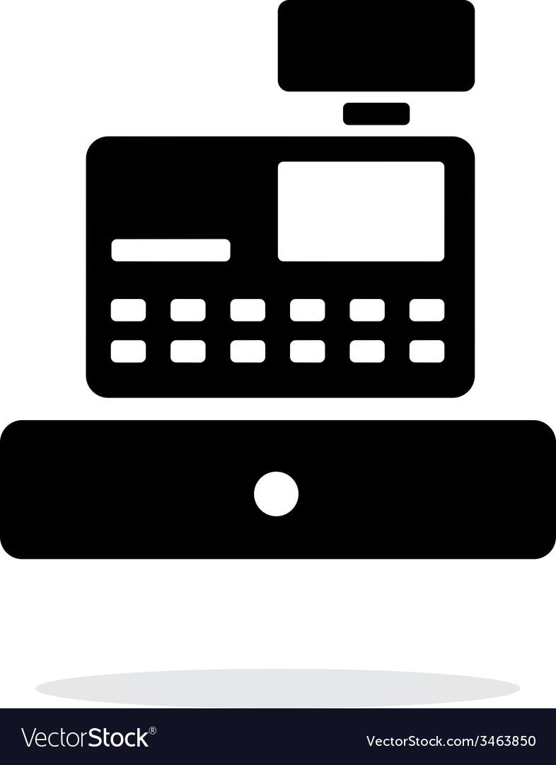 Cash register machine icon on white background vector   Price: 1 Credit (USD $1)